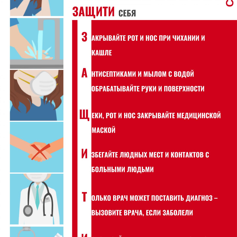Правила профилактики новой короновирусной инфекции